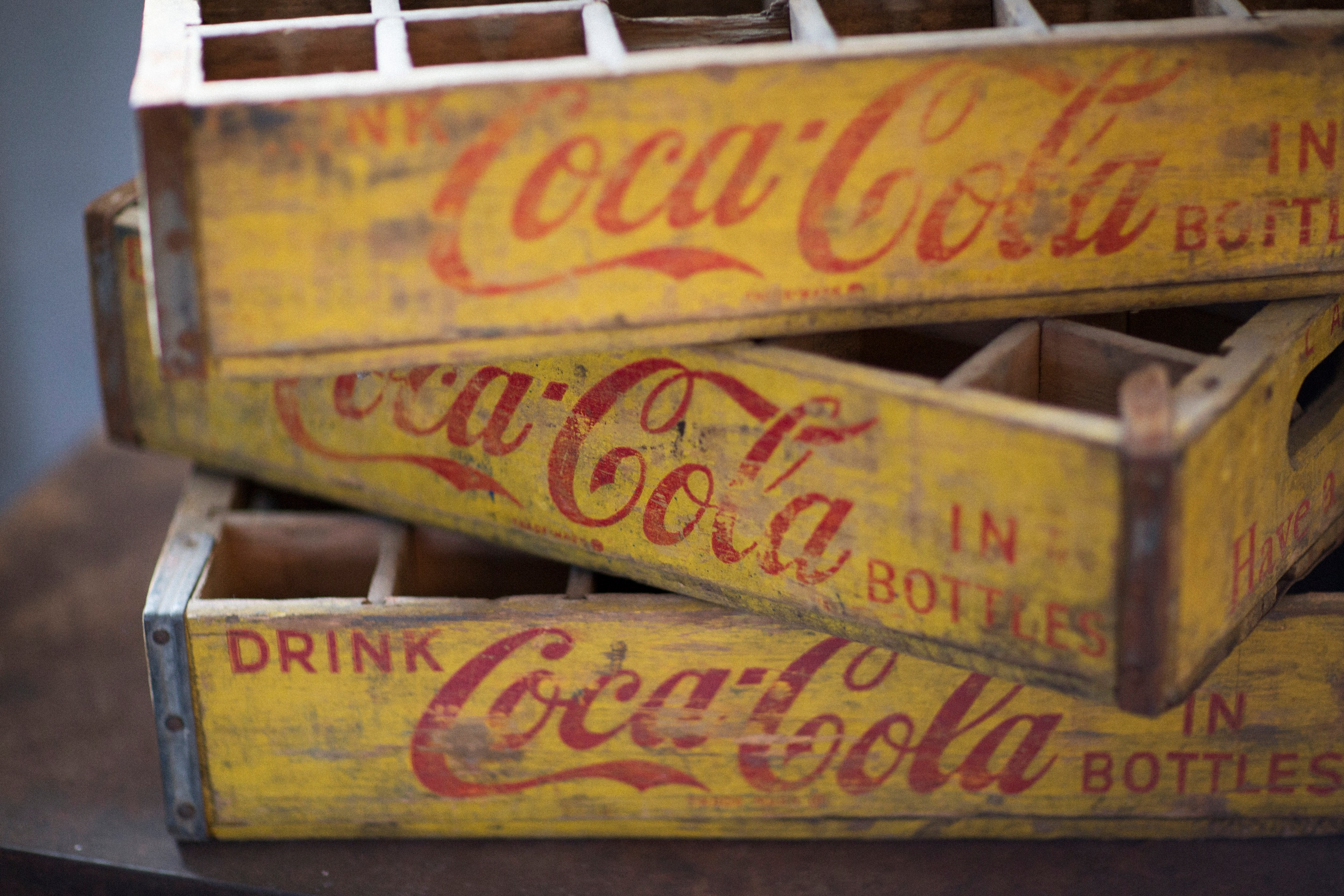 Antique Coca Cola Crates