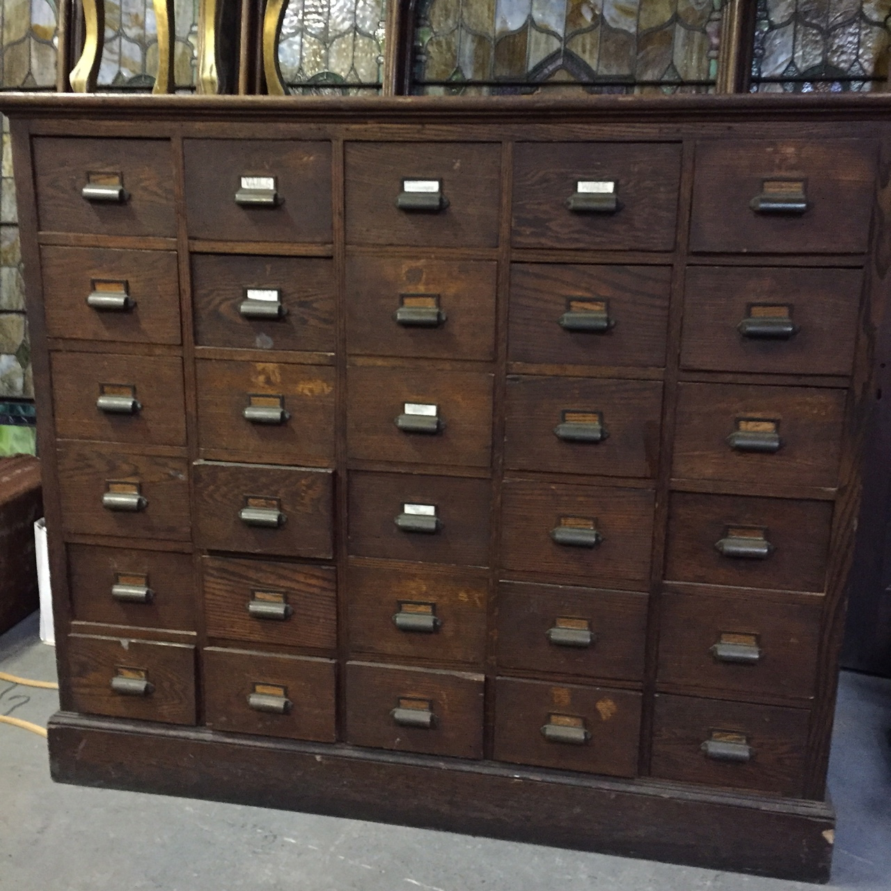 Vintage Apothecary Drawer Unit