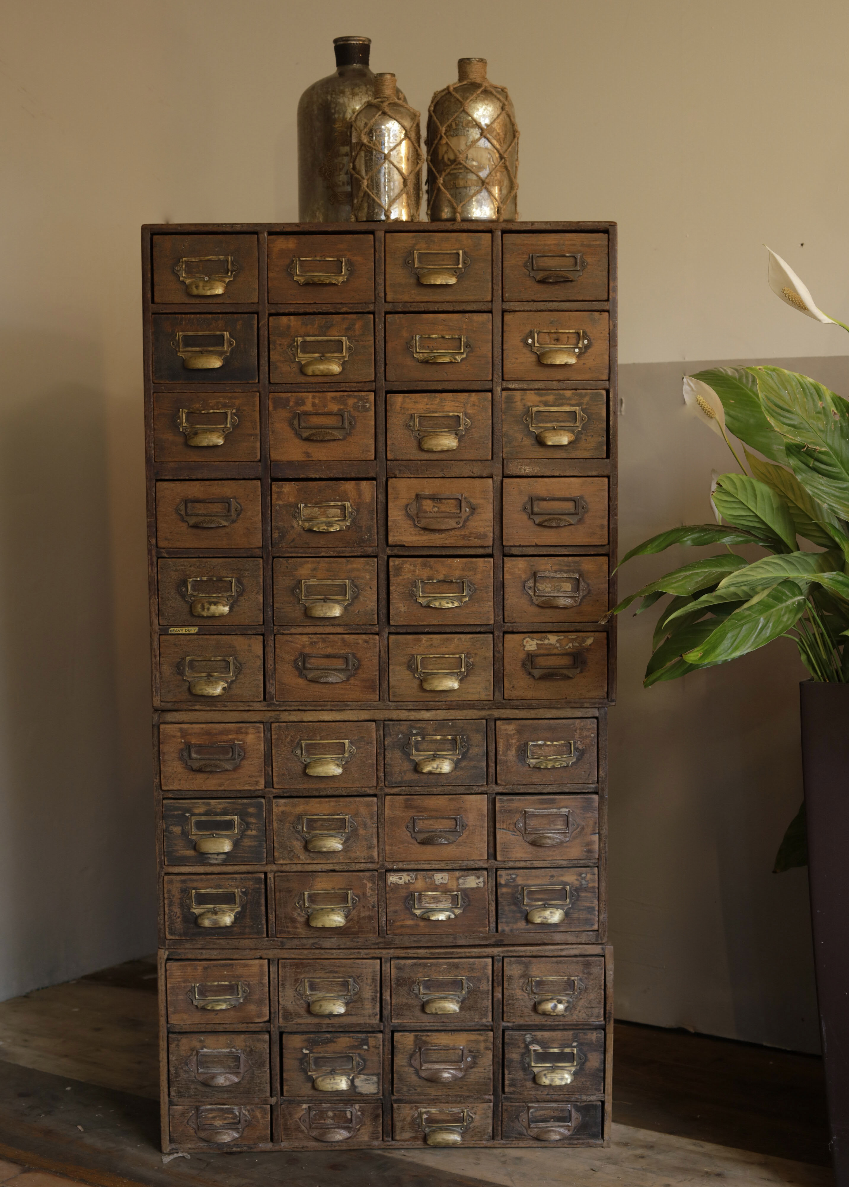 Vintage Teak Index Chest