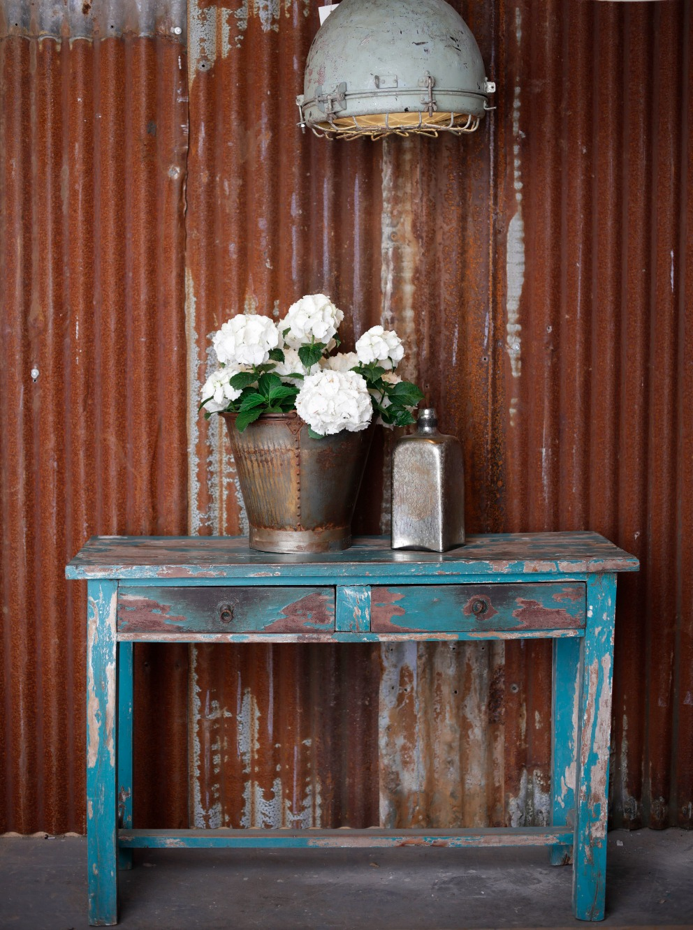 Vintage Distressed Console Table