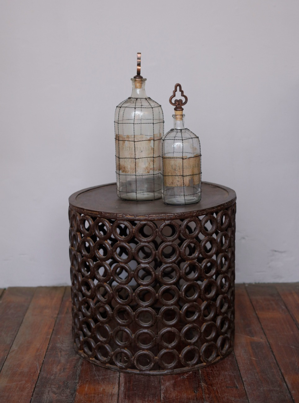 Intricate Iron Side Table