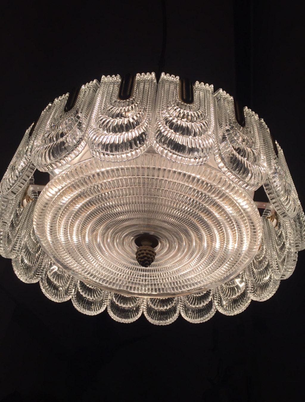 Stunning Mid-Century Glass Chandalier